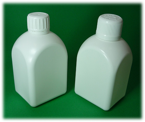250ml rectangle spherical PE Bottle and Container with 25mm neck